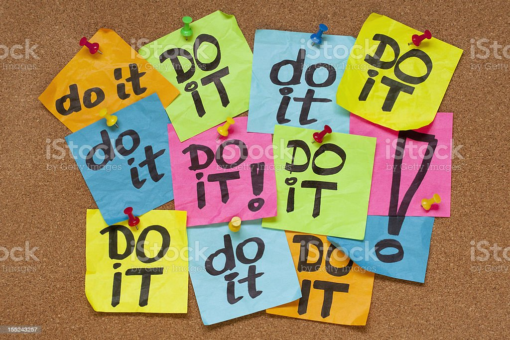 do it - procrastination concept stock photo
