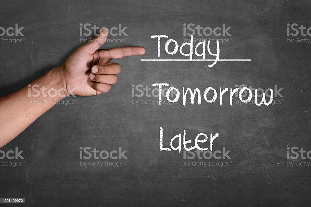 Do it today stock photo