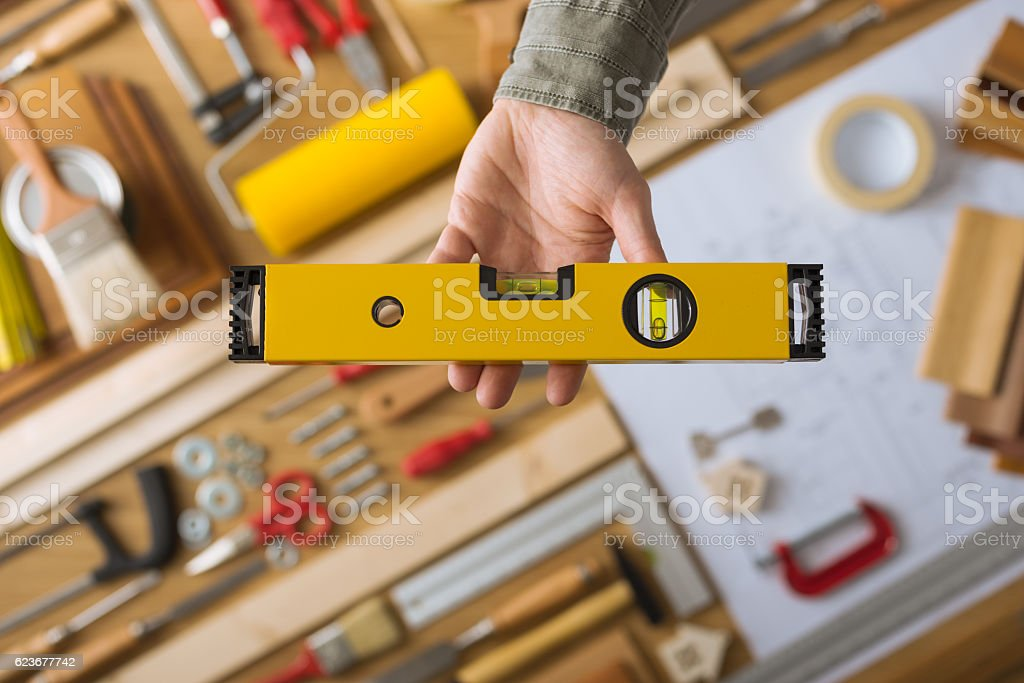Do it yourself and home renovation tools stock photo
