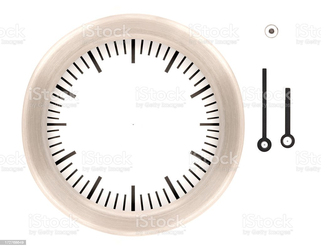 Do It Yourself Clock (inc. Paths) royalty-free stock photo
