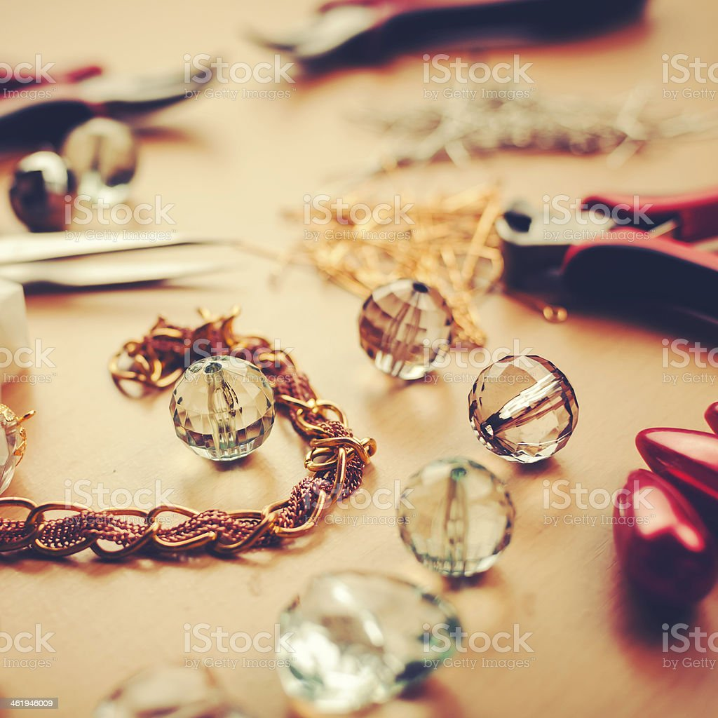 Do it yourself jewels stock photo