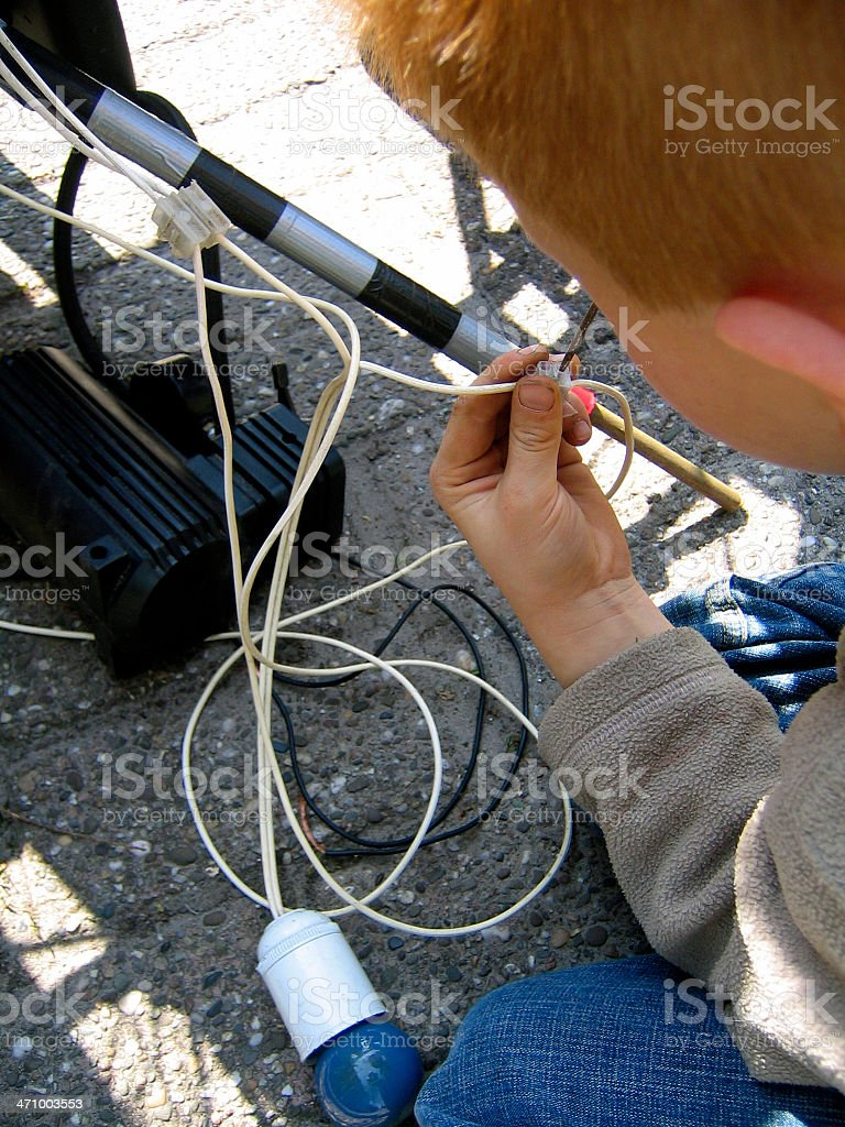 Do it yourself Kid royalty-free stock photo