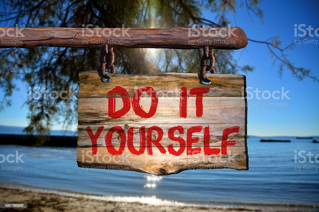 Do it yourself sign stock photo