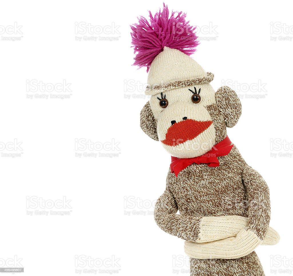 'Do No Evil' Sock Monkey royalty-free stock photo