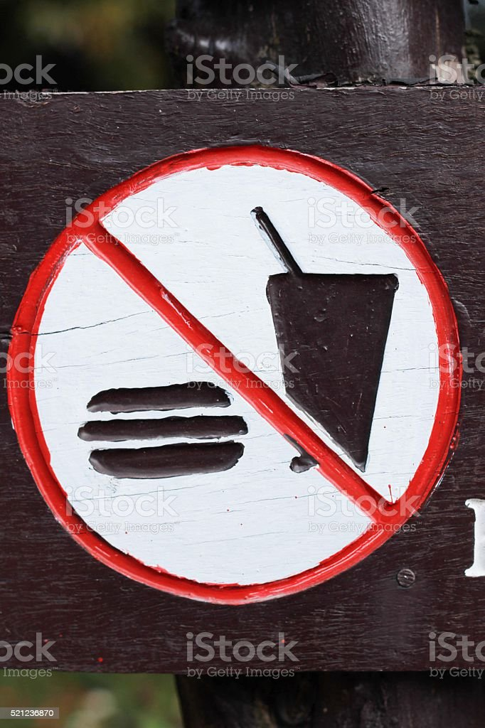 Do not bring food and drinks to eat. stock photo