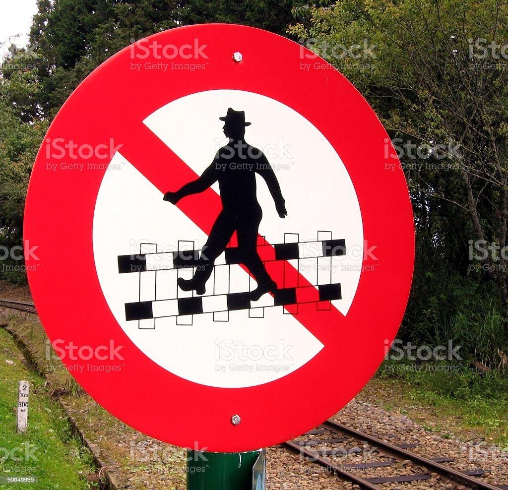 Do Not Cross Railtracks! stock photo