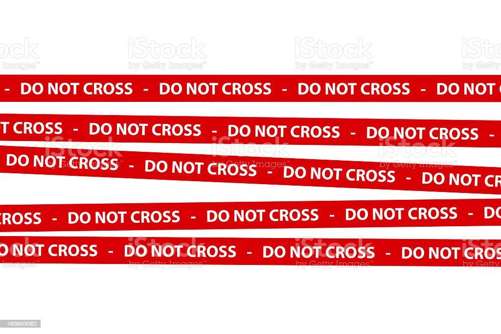 Do Not Cross Tape stock photo