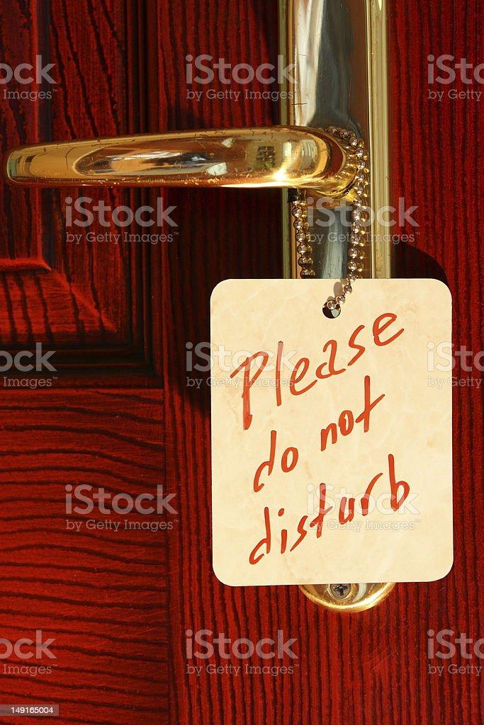 Do not disturb royalty-free stock photo