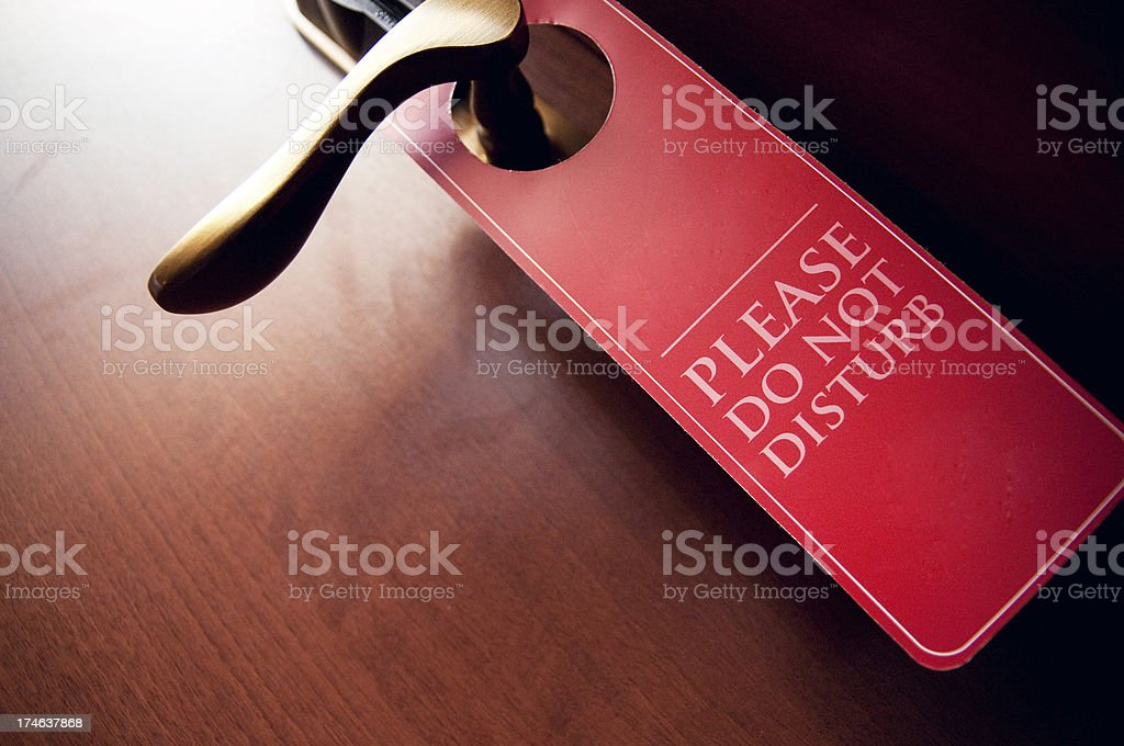 do not disturb! stock photo