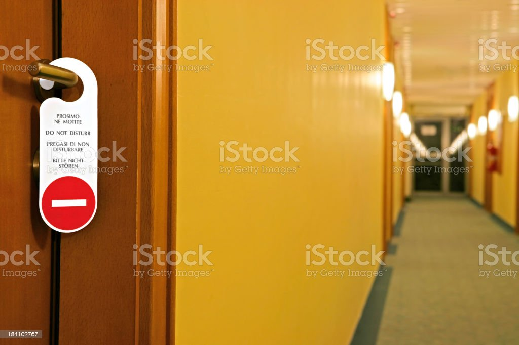 Do Not Disturb! stock photo