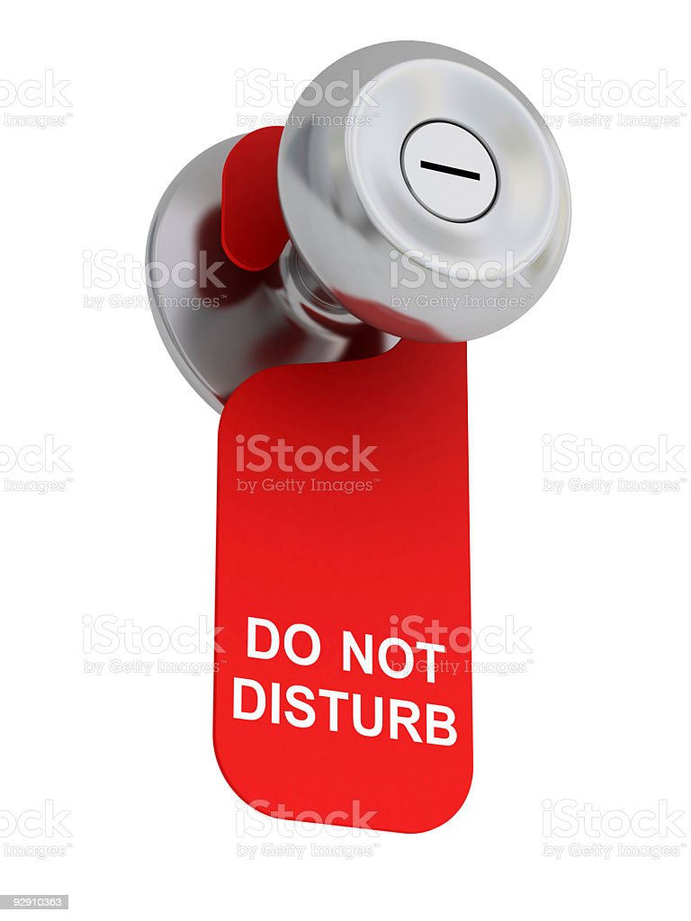 Do Not Disturb! royalty-free stock photo