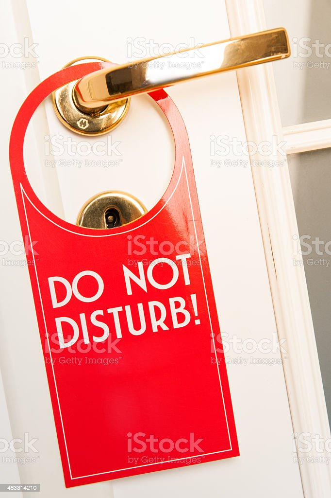 Do not Disturb sign and door stock photo