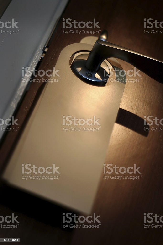 Do not disturb sign - no text version royalty-free stock photo