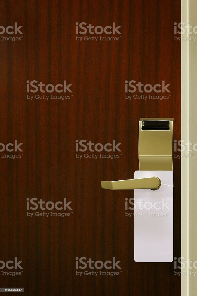 do not disturb sign on hotel door royalty-free stock photo