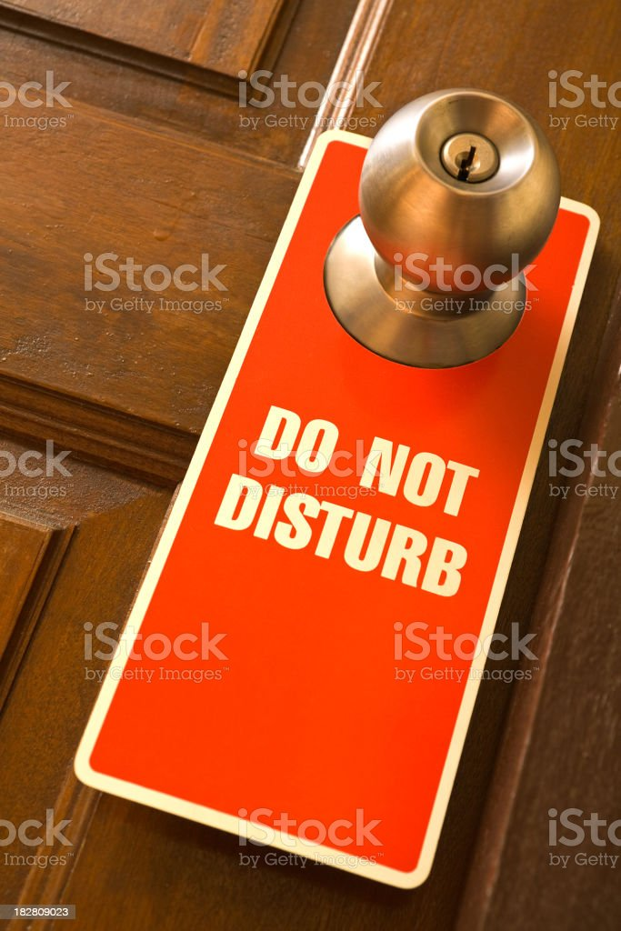 Do Not Disturb Sign stock photo