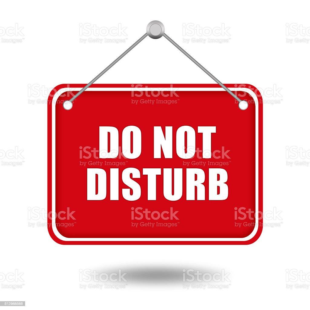 Do not disturb sign stock photo