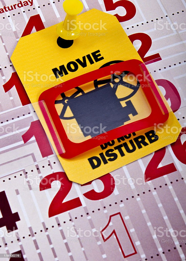 Do not disturb when movie runs 2 stock photo