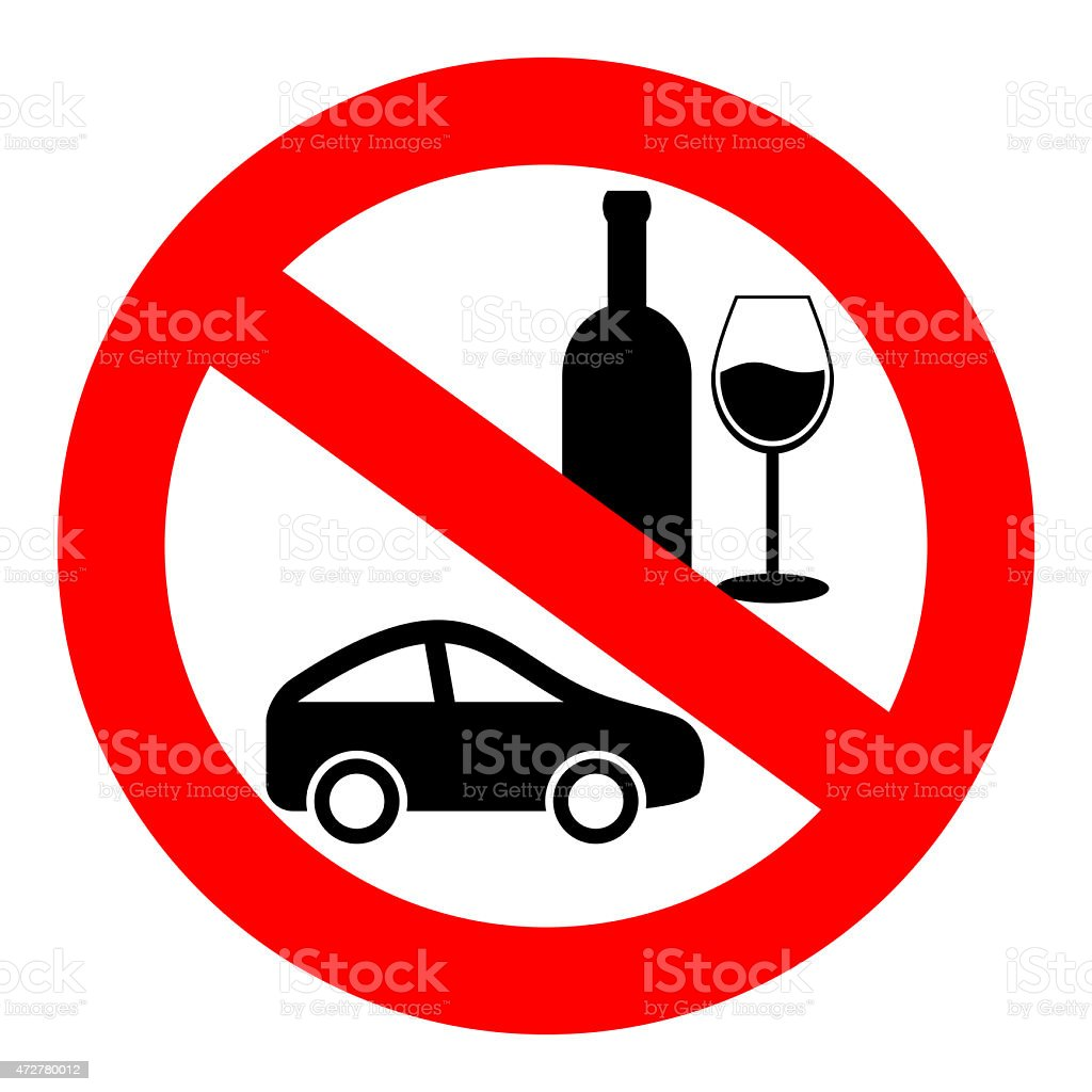 Do not drink and drive sign stock photo