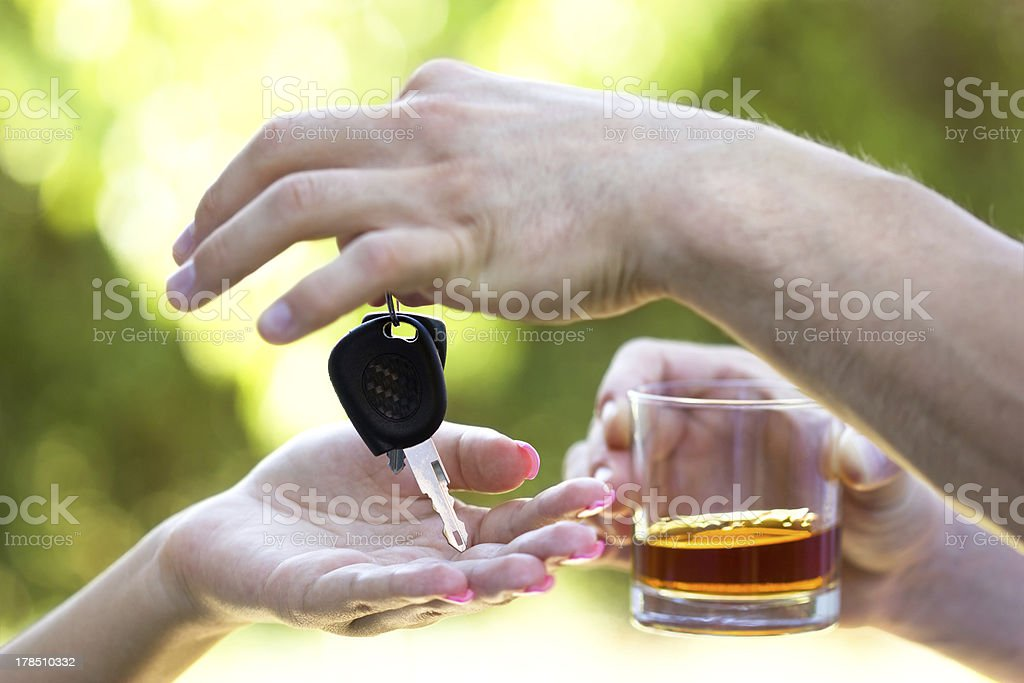 Do not drink when you drive royalty-free stock photo