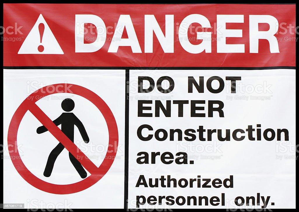 do not enter construction royalty-free stock photo