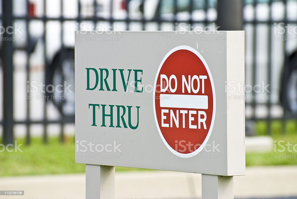 Do not enter - road sign royalty-free stock photo