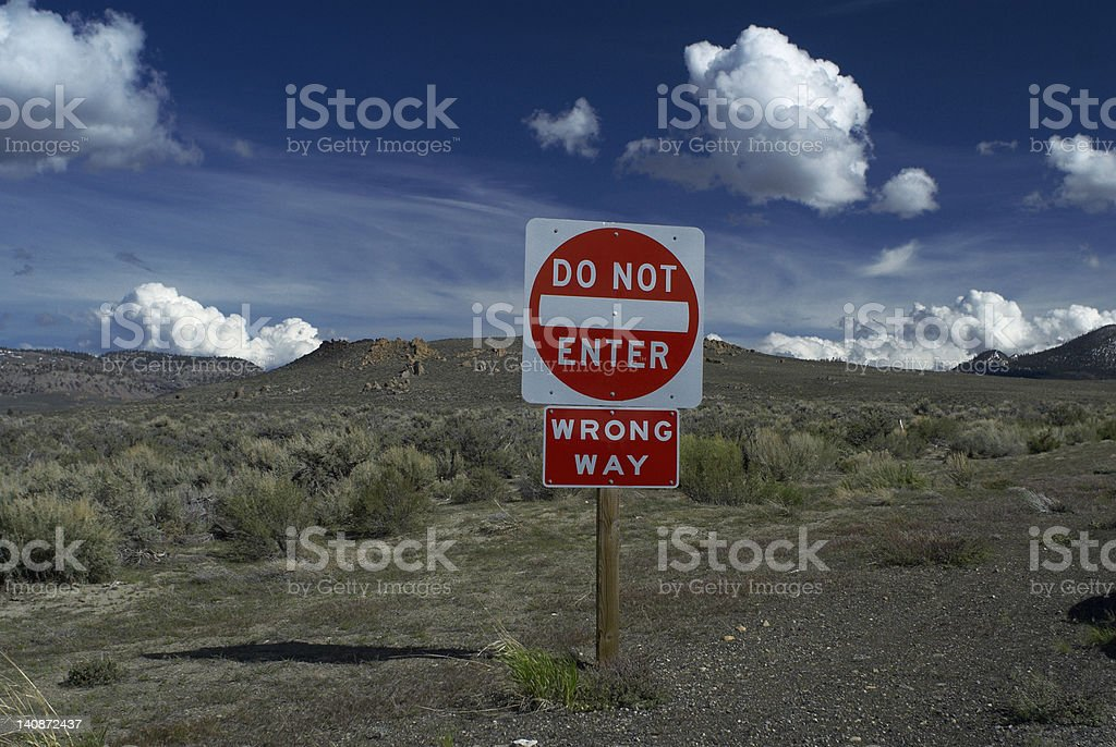 Do not enter sign on rural road stock photo