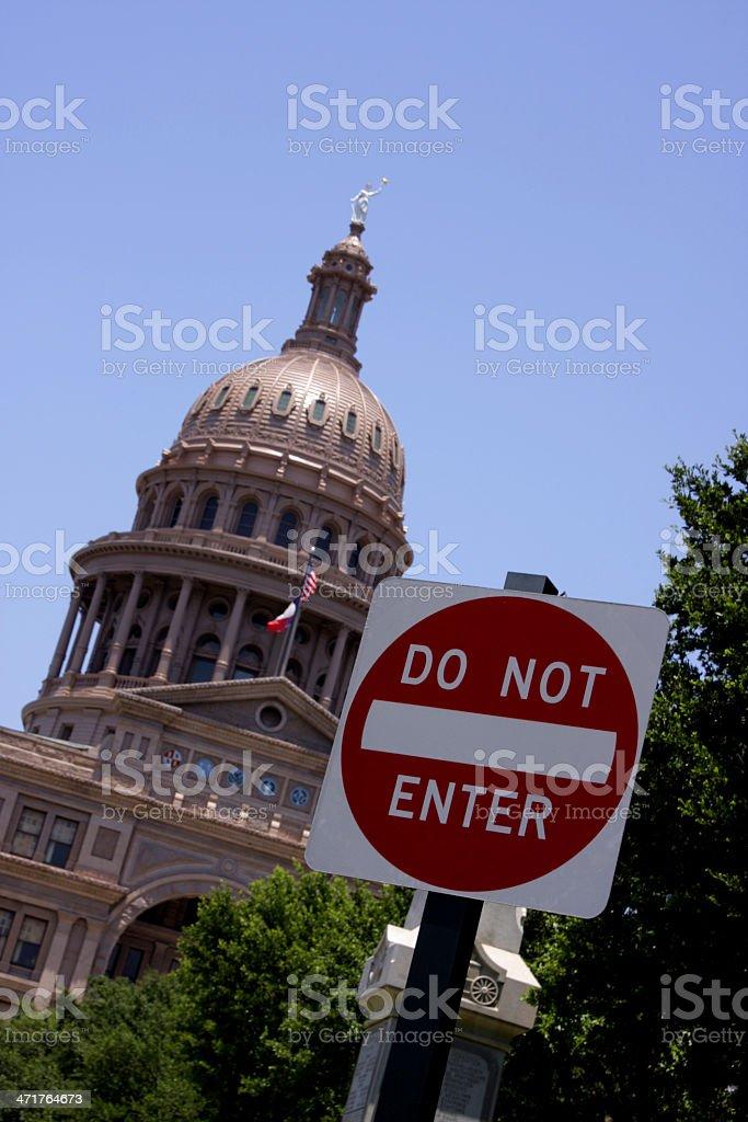 Do not enter State Capitol Austin, Texas royalty-free stock photo