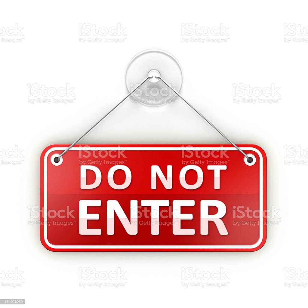 Do not Enter Sticky warning sign stock photo