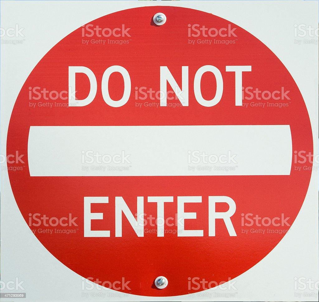 D2773 Do Not Enter Street Sign stock photo