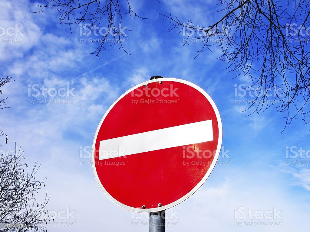 do not enter traffic sign stock photo