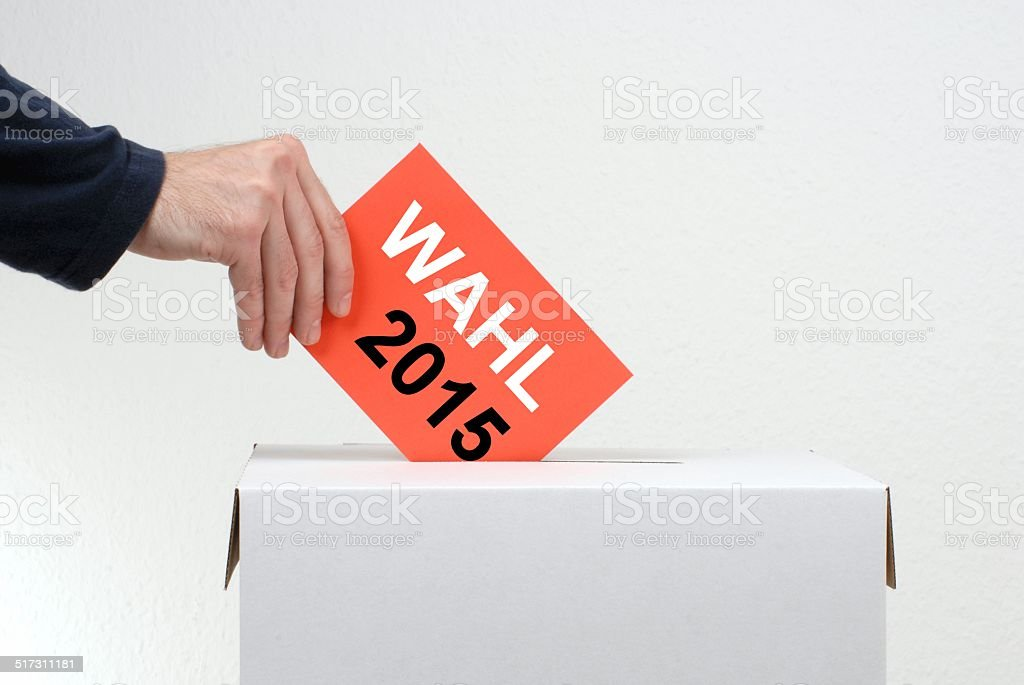 Do not forget: Election 2015 stock photo