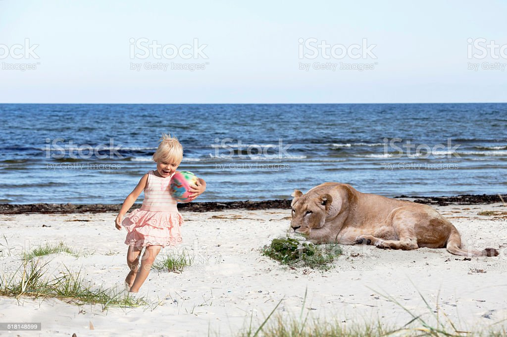 Do not let your kid play anywhere stock photo