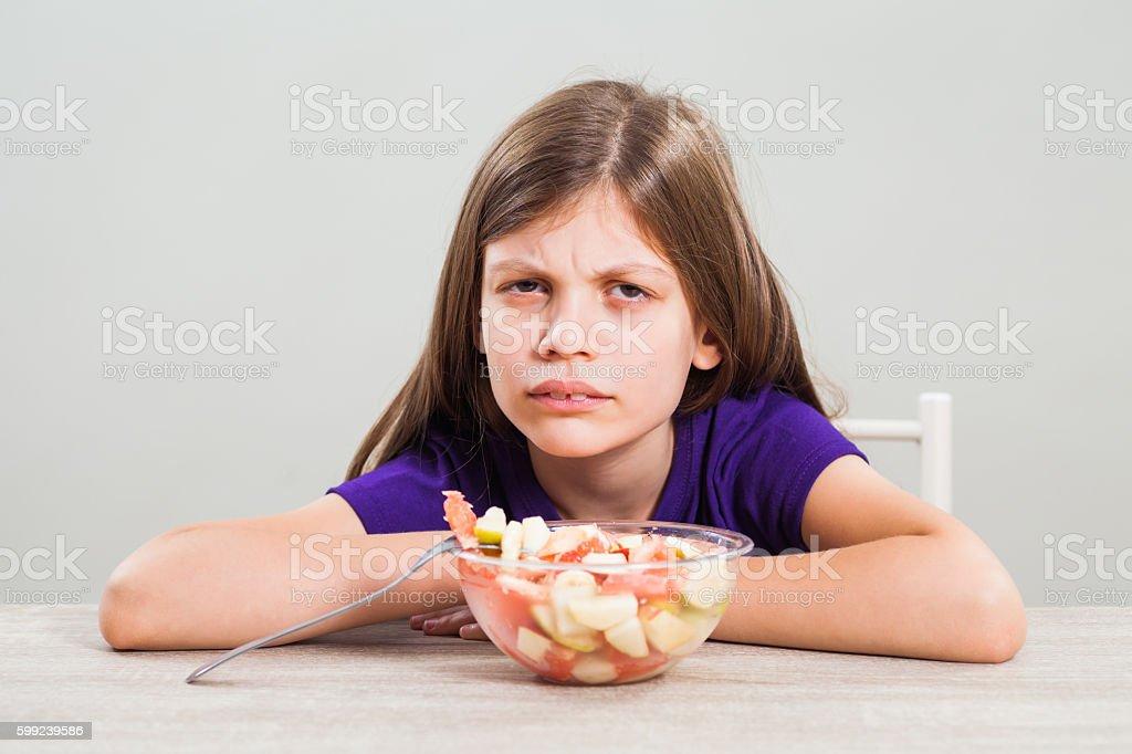 I do not like fruit! stock photo
