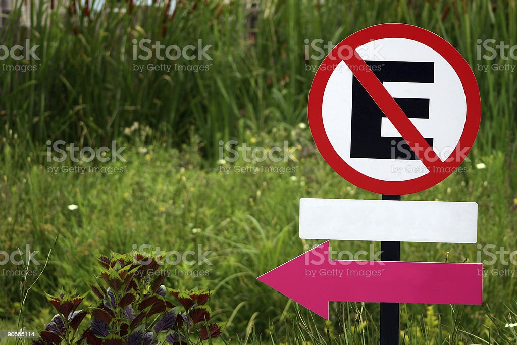 Do not park - Brazilian road sign royalty-free stock photo