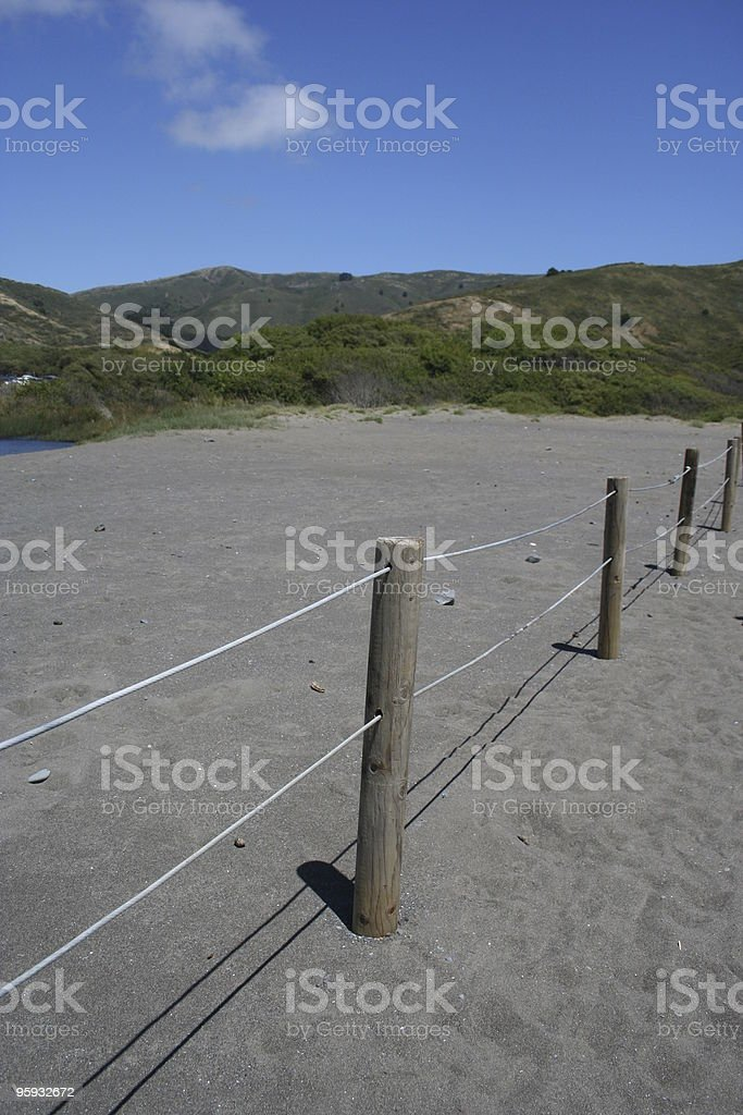 Do Not Pass - Beach Path Marker royalty-free stock photo