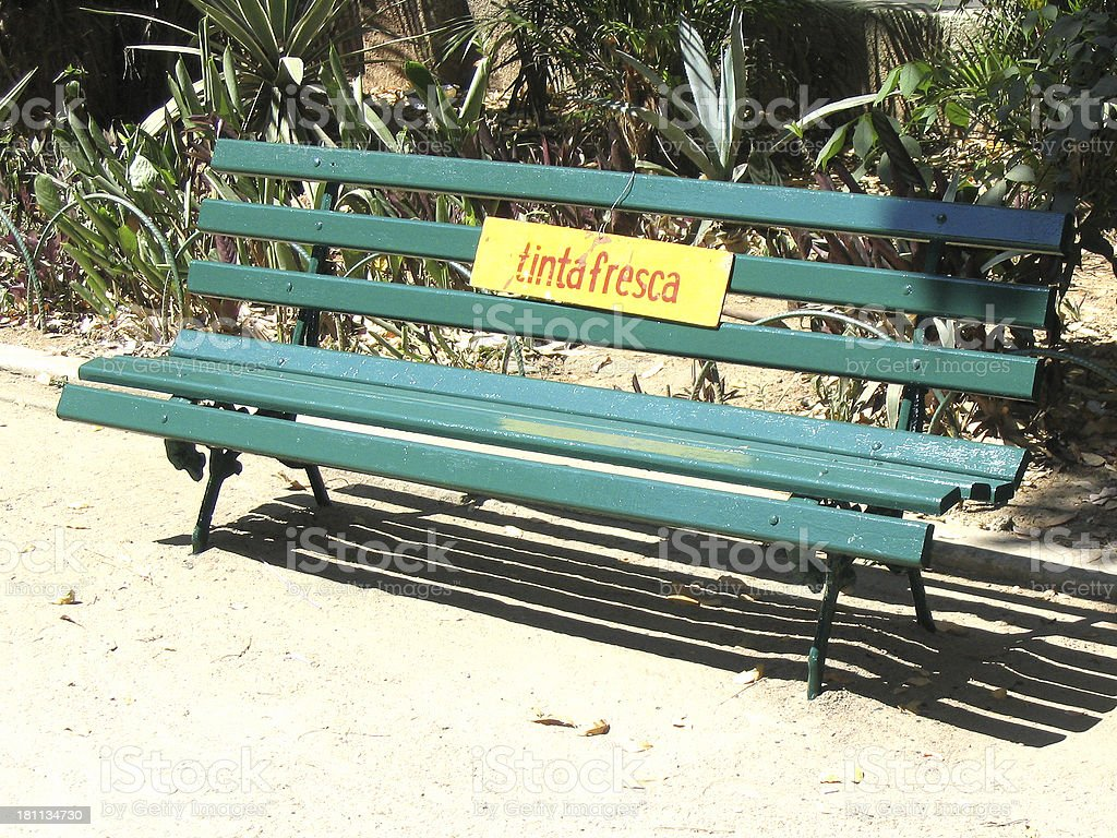 Do not sit  here ! stock photo