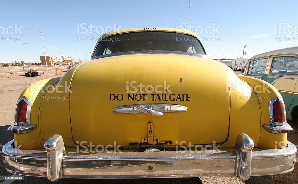 Do not tailgate stock photo