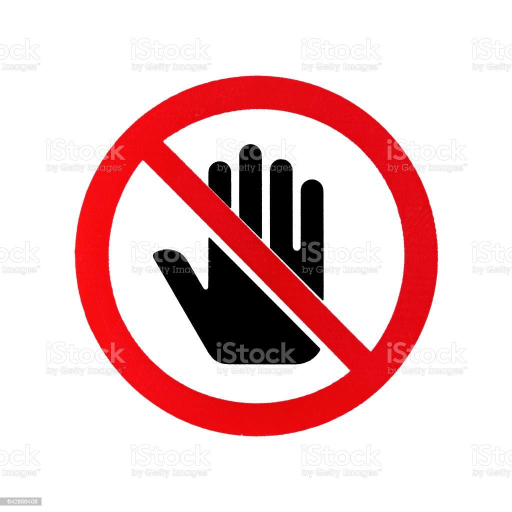 Do not touch stock photo