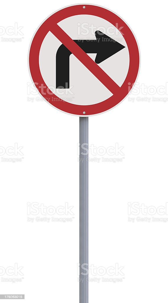 Do Not Turn Right stock photo