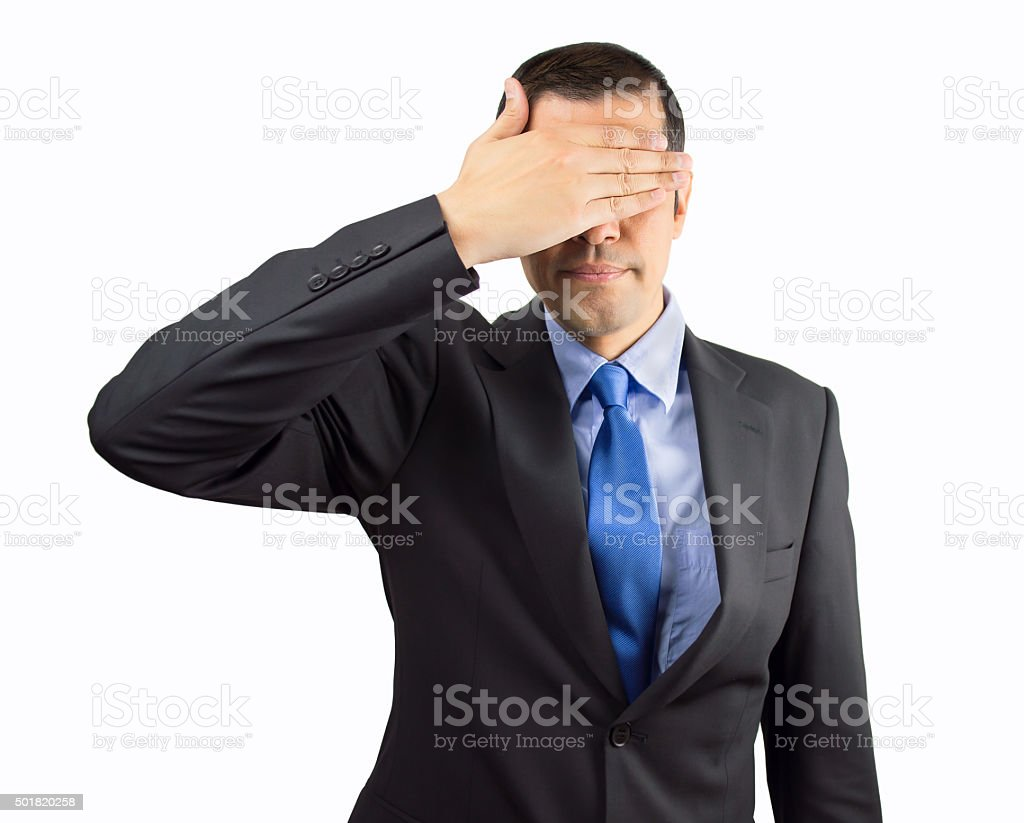 I do not want to see the truth stock photo