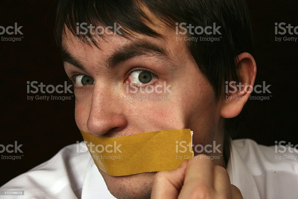I do not wish to be silent royalty-free stock photo