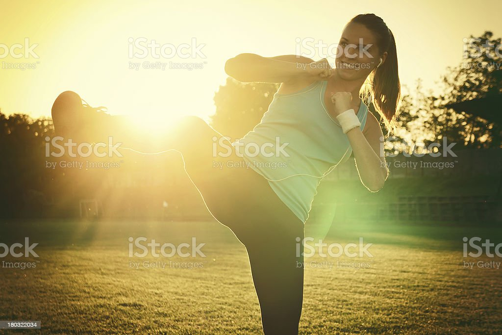 Do Sport in the sunset stock photo