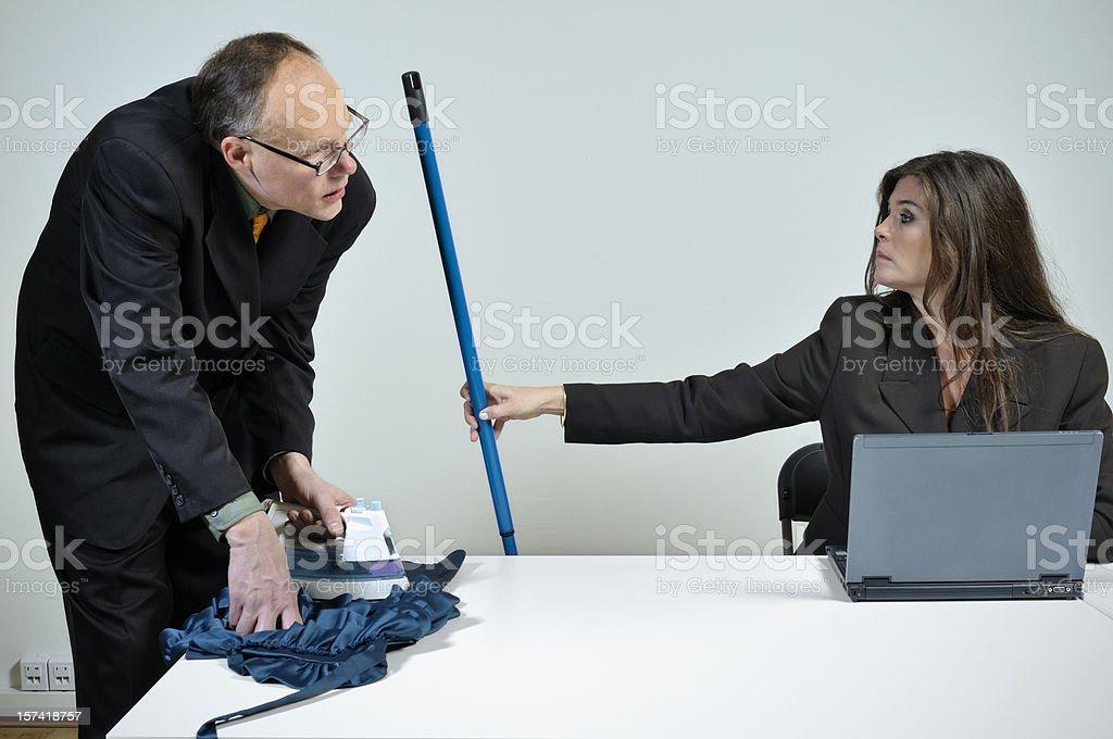 Do the housework! stock photo