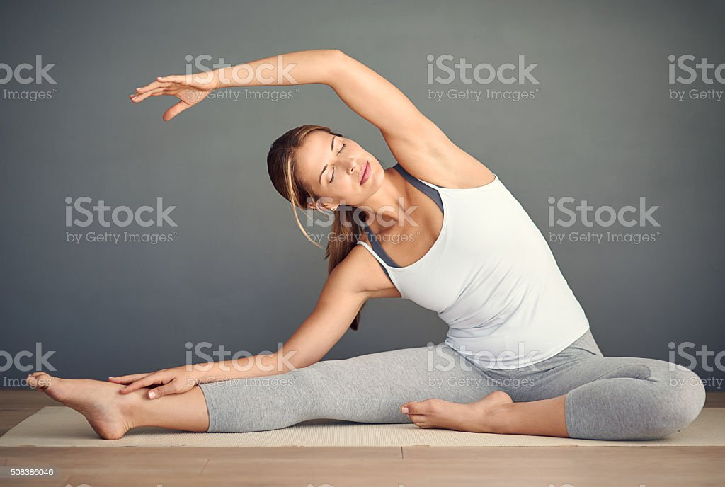 Do yoga today so you can do yoga tomorrow stock photo
