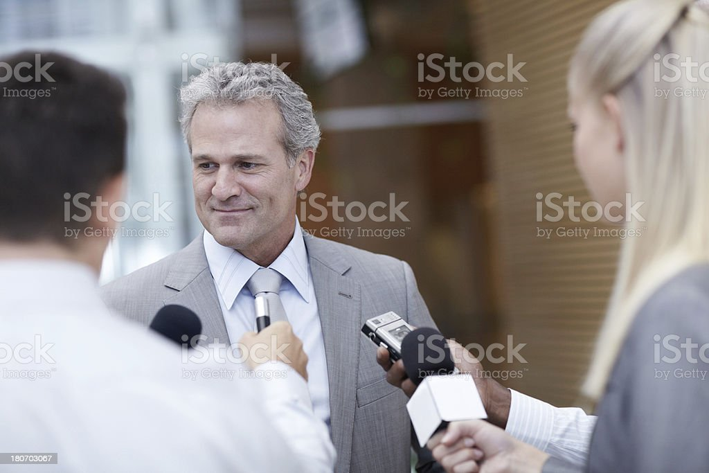 Do you have a comment sir? royalty-free stock photo