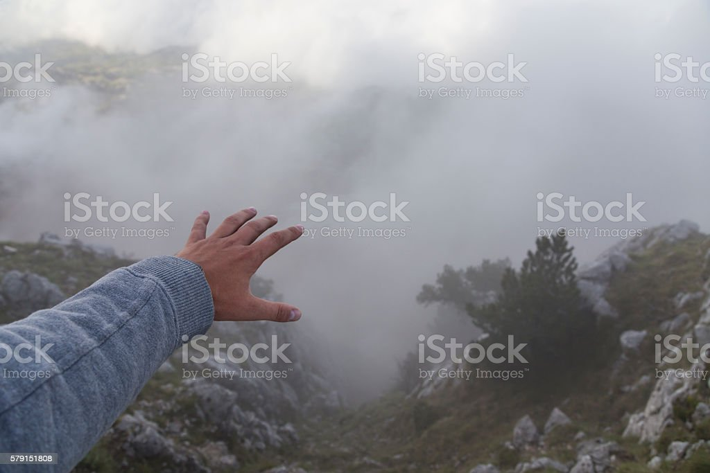 Do you have a phobia of heights stock photo