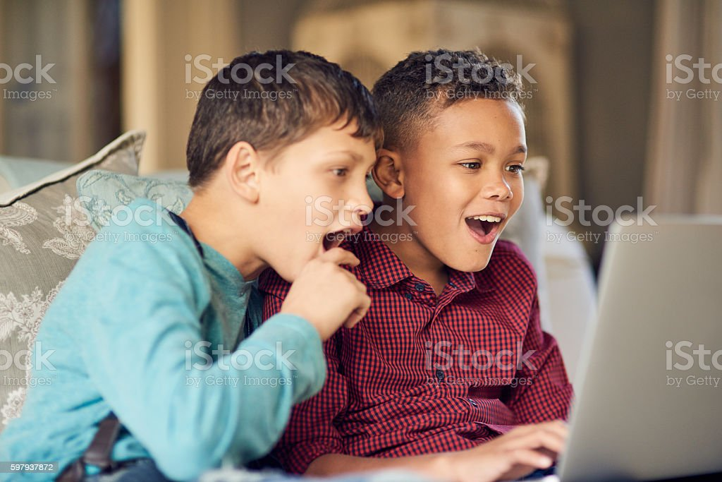 Do you know what your kids are looking at online? stock photo