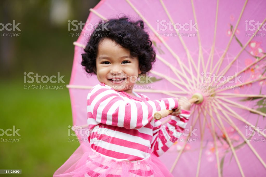 Do you like my umbrella? stock photo