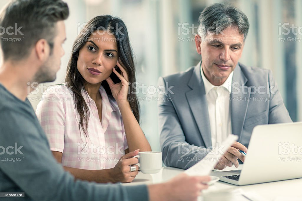 Do you like the idea our agent suggested? stock photo