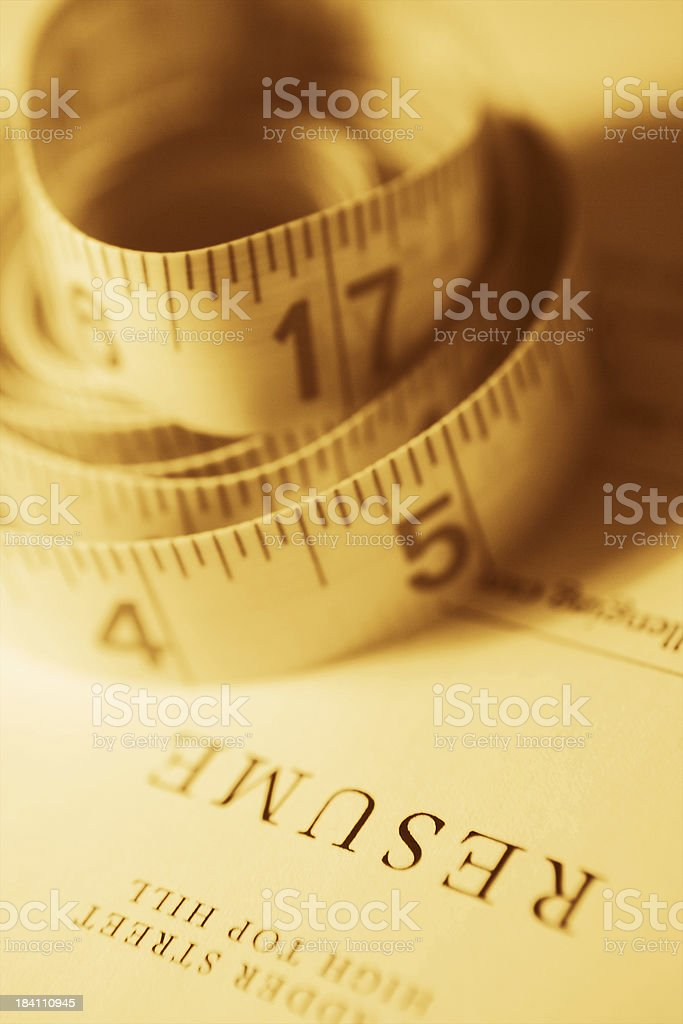 Do you measure up? royalty-free stock photo